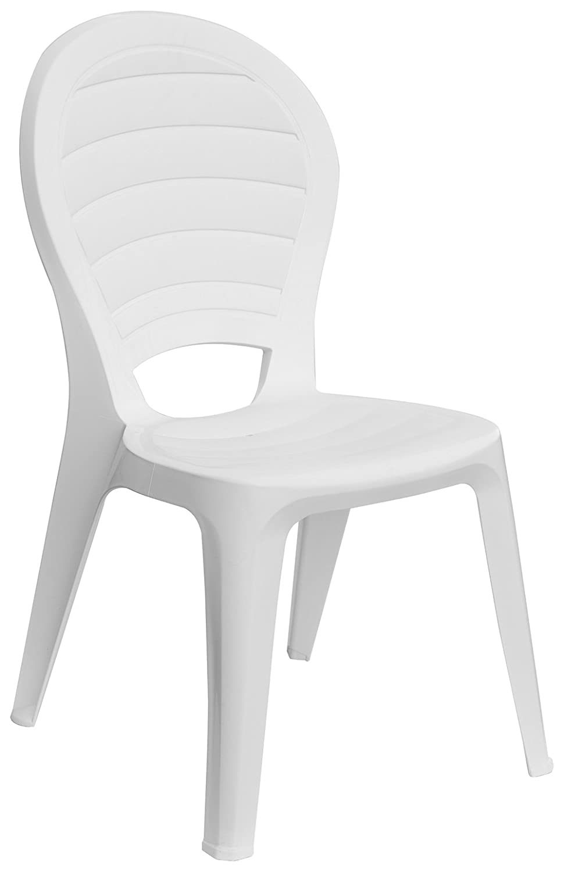GRAND SOLEIL Paloma Grandsoleil Boheme Greenpol sedia impilabile, verde polimerico, bianco, 55x 50x 88cm Grandsoleil_S6312B