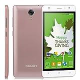 Xgody Unlocked 4G Lte Smartphones X200 Pro Android 6 Phone 5 inch 1GB RAM 8GB ROM HD Quad Core Dual Sim GPS Rose Gold