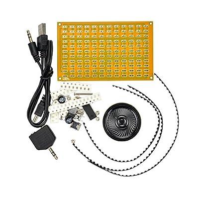 Aoshike 5V USB LED Music Spectrum Analyzer Audio Level Meter /MP3 PC Amplifier Audio Indicator Diy Kits
