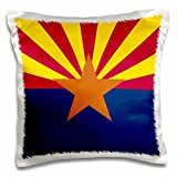 3dRose Flag of Arizona - US American State - United States of America - red Yellow Blue Copper Orange Star - Pillow Case, 16 by 16-inch (pc_158293_1)