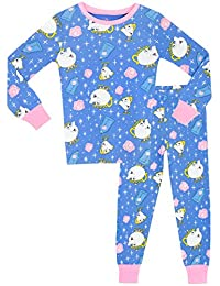 Disney Beauty & The Beast Girls' Mrs Potts & Chip Pajamas