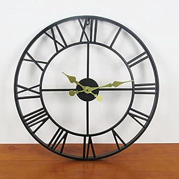 SJMM 50 * 50 cm Retro Reloj de pared Digital Romano casa de estilo europeo nostálgico casa Plancha Reloj de pared: Amazon.es: Hogar