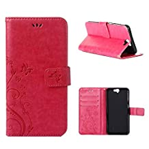 """HTC One A9 Case, LANDEE Advanced Pressed Flowers Series The Unique Design PU Leather Wallet Stand Flip Case for HTC One A9 (5.0"""") (HTCA9-P-0407)"""