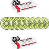 Labeda Wheels 80mm /76mm HILO Set UNION YELLOW Inline Indoor Roller Hockey Bones Swiss