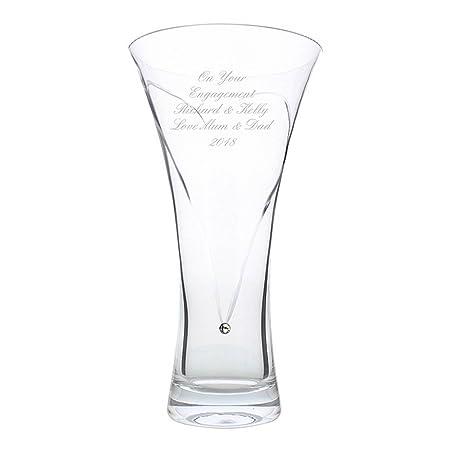 Personalised Swarovski Heart Vase Amazon Kitchen Home