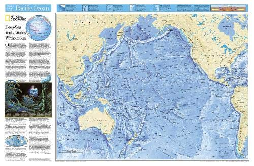 (National Geographic: Pacific Ocean Floor Wall Map (31.75 x 20.75 inches) (National Geographic Reference Map))
