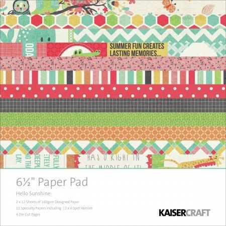 Kaisercraft PP930 Kaisercraft Paper Pad 6.5X6.5 40/Pkg-Hello Sunshine