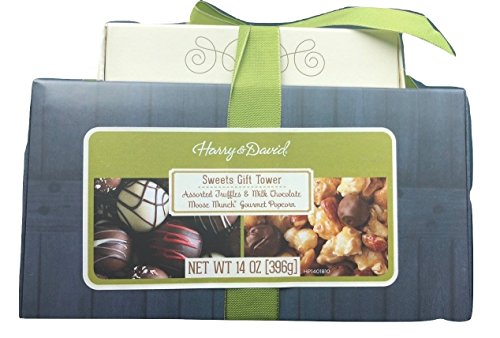 Harry And David Tower - Harry & David Sweets Gift Tower - Milk Chocolate Moose Munch and Assorted Truffles