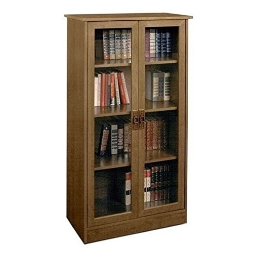 Bowery Hill 4 Shelf Glass Door Barrister in Inspire Cherry (Glass Cherry Hill)