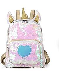Toddler Backpack Unicorn School Backpack for Girls Sequin School Bag Purse Daybacks