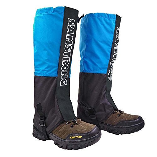Top Lander Waterproof Leg Gaiters for Men and Womens Running Hiking Walking Mountaineering Lightweight Snowshoes Cover Boot High Gaiters (Sky Blue)
