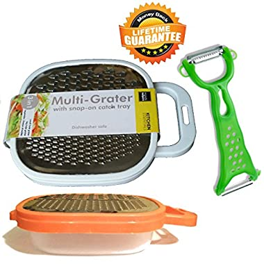 Peeler Cheese Grater With Container Set Carrot Vegetable Potato Apple Julienne Peeler Slicer Zester Graters & Peelers Kitchen Gadgets All In One Peeler Cutter Slicer Graters For Kitchen