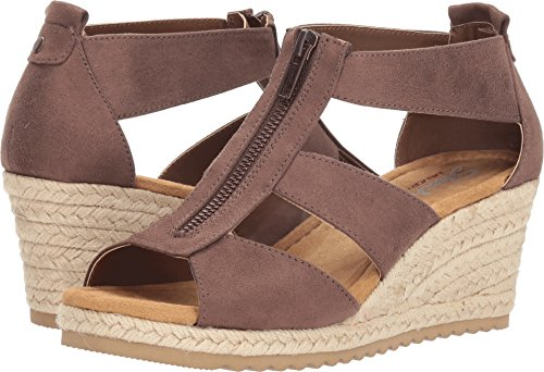 Skechers Cali Women's Monarchs Wedge Sandal,chocolate,9 M US