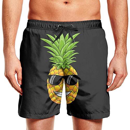 BingGuiC Men's Quick Dry Shorts - Hawaiian Pineapple