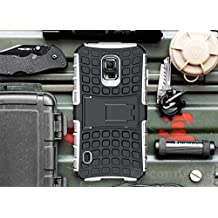 Galaxy S5 Active Case, Cocomii Grenade Armor NEW [Heavy Duty] Premium Tactical Grip Kickstand Shockproof Hard Bumper Shell [Military Defender] Full Body Dual Layer Rugged Cover Samsung G870 (White)
