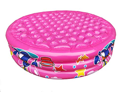 """Big Summer 3 Rings Kiddie Pool, 48""""X12"""", Kids Swimming Pool for Age 2+, Inflatable Baby Ball Pit Pool (Pink)"""