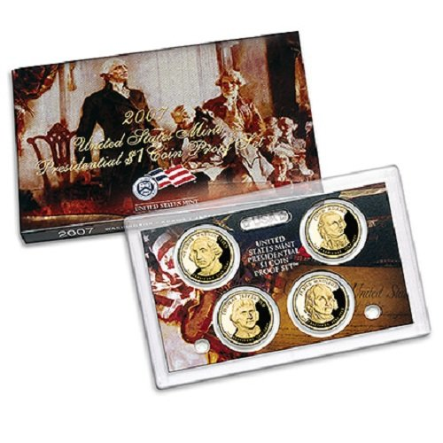 2007 Presidential $1 Coin Proof Set in OGP Box with COA