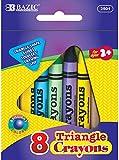 8 Color Premium Super Jumbo Triangle Crayons 72 pcs sku# 1892834MA