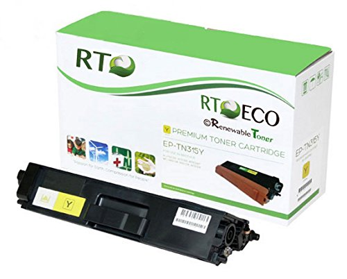 Renewable Toner © TN315 | TN-315 (Compatible with Brother TN-315Y/ TN315y) Compatible Yellow Laser Toner Cartridge (High Yield: 3.5k pages) for Brother LaserJet Printers: HL-4150CDN, HL-4570CDW, HL-4570CDWT, MFC-9460CDN, MFC-9560CDW, MFC-9970CDW