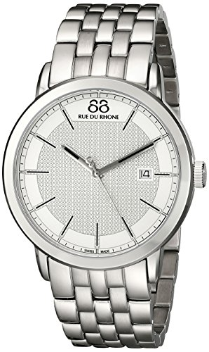 88-Rue-du-Rhone-Mens-87WA130016-Double-8-Origin-Analog-Display-Swiss-Quartz-Silver-Watch