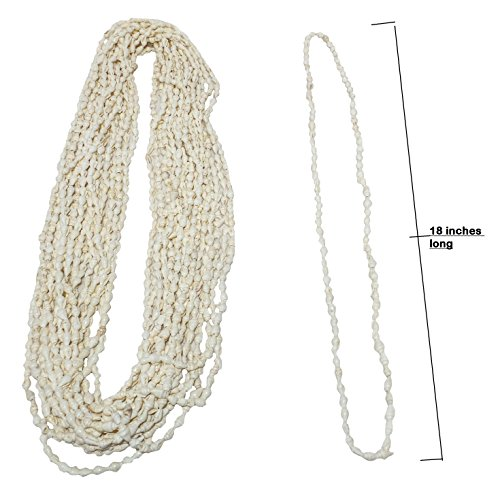 Nassa Tiger (U.S. Shell, Inc. 05195 White Nassa Necklace U.S. Shell Inc., White Nassa Necklace,)