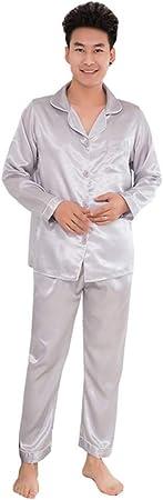 Pijamas De Hombre,Conjunto De Pijama De Satén Para Hombre ...