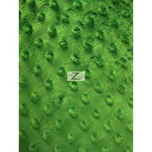 """DIMPLE DOT MINKY FABRIC - Mint Green - 60"""" WIDTH SMOOTH MINKY SOLD BY THE YARD"""