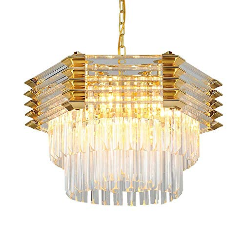 Postmodern Crystal Lamp Simple Modern Creative Personality Nordic Style Hong Kong Style Light Luxury Lamps Living Room Plating Metal Glass Crystal Chandelier 6040cm (The Crystal Chandeliers Light Up The Paintings)
