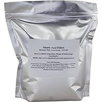 Duda Energy stear08 ácido estearico grado alimentario NF USP puro copos blancos Hystrene 5016, 8 oz.
