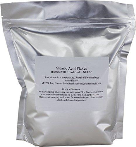 Stearic Acid Powder - Duda Energy stear1f Stearic Acid Food Grade NF USP Pure White Flakes Hystrene 5016, 1 lb.