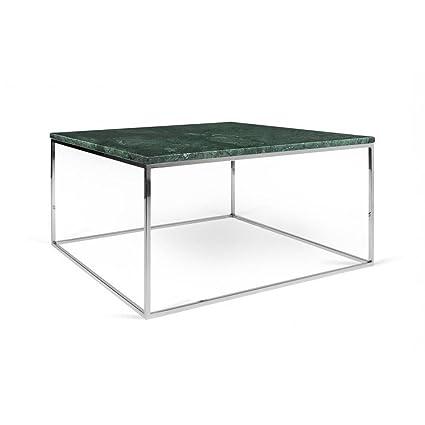 Temahome Table Basse Rectangulaire Gleam 50 Plateau En Marbre Vert