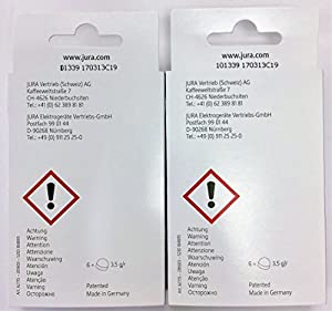 Jura Cleaning Tablets For All Jura-Capresso Espresso Machine and Automatic Coffee Centers, 12-Count from Jura
