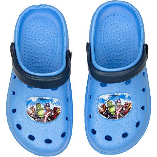 Palleon Avengers Jungen Clogs Badesandalen Blau