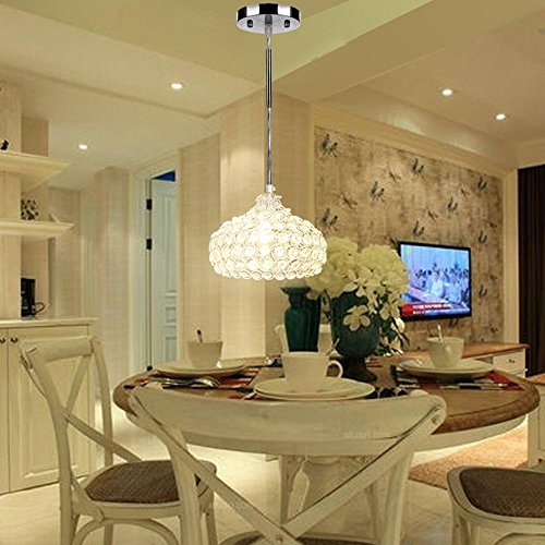 Light Cylindrical Pendant, Simplicity Crystal Ceiling chandelier lighting Light, For Living Room, Bedroom, Dining Room by ferty (Image #6)