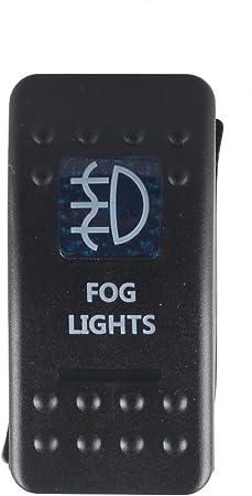 Mintice 12v Kfz Blau Led Licht Beleuchtet Wippenschalter Kippschalter Auto Armaturenbrett Schalter Fog Light Auto