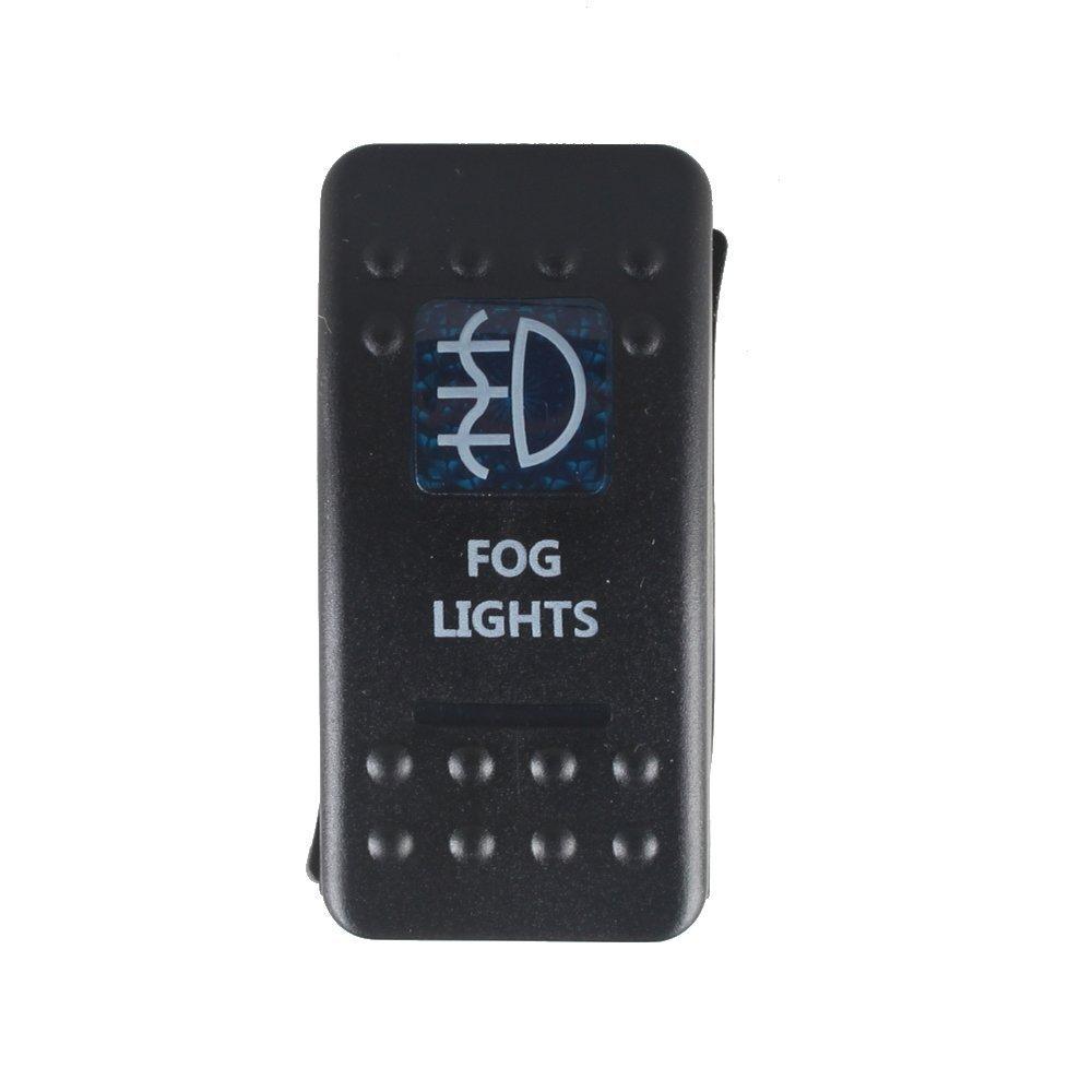 Mintice/™ veh/ículo de 12V 20A LED azul interruptor de palanca basculante luz 5 Pines Fog Light