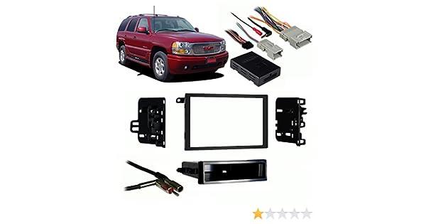 Amazon.com: Fits GMC Yukon Denali 03-06 Double DIN Stereo Harness Radio Install Dash Kit: Car Electronics