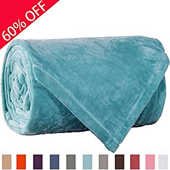 Sonoro Kate Fleece Blanket Soft Warm Fuzzy Plush King(104-Inch-by-90-Inch) Lightweight Cozy Bed Couch Blanket,Easy Care,Turquoise