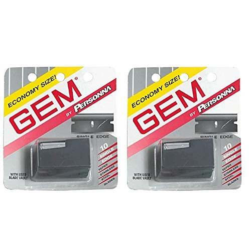 Personna Gem Stainless Steel Single Edge Razor Blades 10 Ea (Pack Of 2) ()