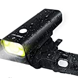 enable usb d - Fillixar USB Rechargeable Bike Light Front 800 Lumens, Bicycle Light With Wired Remote Control, LED Bike Headlight, Waterproof Front Bike Light - Black