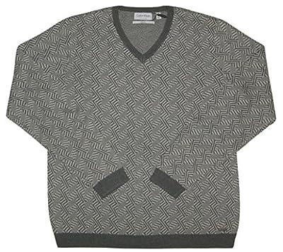 Calvin Klein Men's Slim-Fit Jacquard Sweater