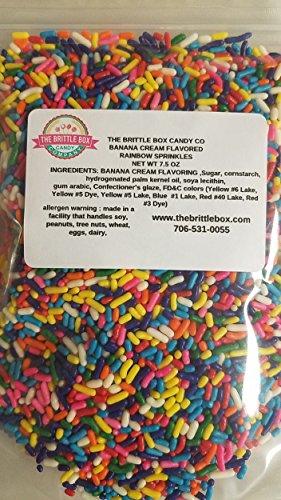 Jimmies Ice Cream - Rainbow Sprinkles Banana Cream Flavored Ice cream cupcake cake toppings sprinkle jimmies