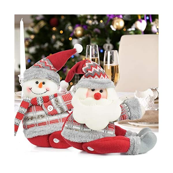UMIPUBO Natale Sipario Fibbia in Velcro,Bambola di Natale,Fibbia Tenda Natalizia Babbo Natale Alce Pupazzo di Neve,Fissaggio Tende Fibbie,Decorazioni Natalizie, 2 spesavip