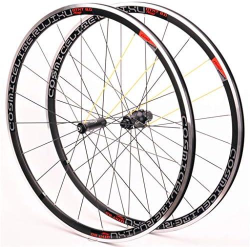 GXFWJD 700Cロードバイクホイールセット ダブルウォールリム30mm リムブレーキ 8/9/10/11速度 カセットハブ QR 自転車の車輪 1600g