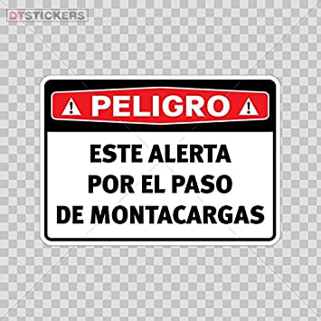 Vinyl sticker decals peligro este alerta por el paso de montacargas sports bike d217 a92xx