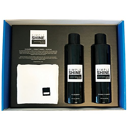Premium Leather Cleaner and Conditioner Shoe and Bag Cleaning Kit | Cloths for Restore, Protect and Care