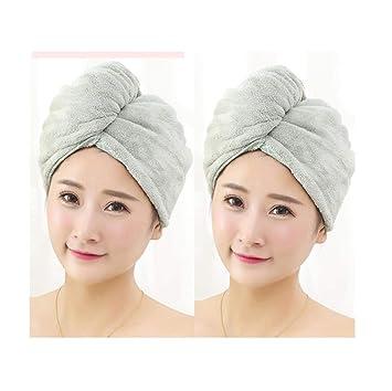 2 gorras para el cabello seco, gorra absorbente fuerte, linda ...