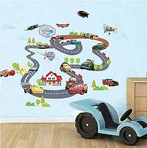 ملصق حائط ثلاثي الأبعاد لصورة ثلاثية الأبعاد لتزيين المنزل رسوم متحركة لجدران غرفة نوم الأطفال