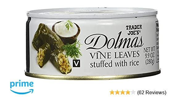 Trader Joes Dolmas Vine Leaves Stuffed With Rice Pack Of 2