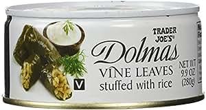 Trader Joe's Dolmas Vine Leaves Stuffed with Rice (Pack of 2)
